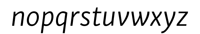 Skolar Sans PE Light Italic Font LOWERCASE