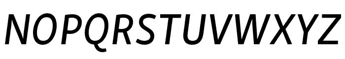 Skolar Sans PE Medium Italic Font UPPERCASE