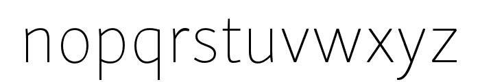 Skolar Sans PE Thin Font LOWERCASE