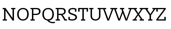Slabo 27px Regular Font UPPERCASE