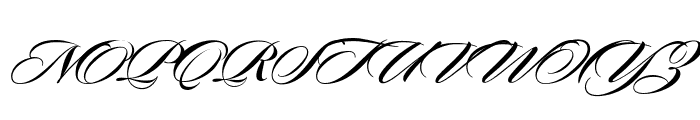 Sloop ScriptBoldTwo Font UPPERCASE