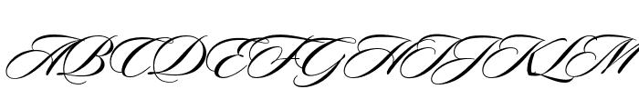 Sloop ScriptMediumThree Font UPPERCASE