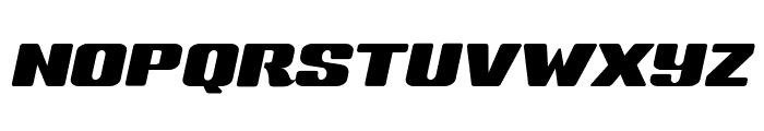Sneakers Script Wide Font UPPERCASE