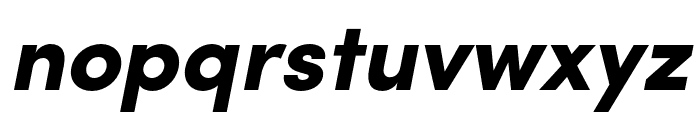Sofia Pro Black Italic Font LOWERCASE