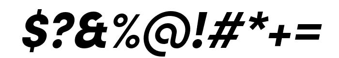 Sofia Pro Condensed Black Italic Font OTHER CHARS