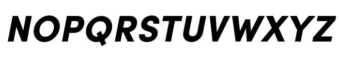 Sofia Pro Condensed Black Italic Font UPPERCASE