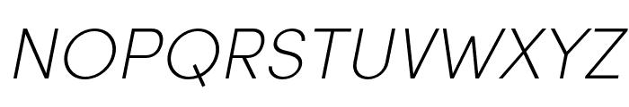 Sofia Pro Condensed Extra Light Italic Font UPPERCASE
