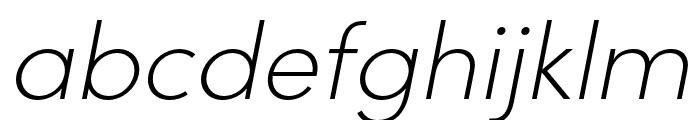 Sofia Pro Condensed Extra Light Italic Font LOWERCASE