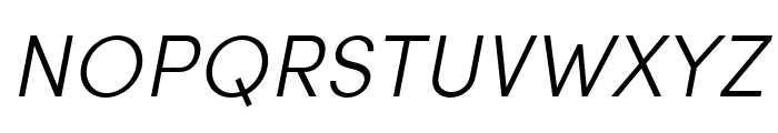 Sofia Pro Condensed Light Italic Font UPPERCASE