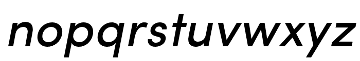Sofia Pro Condensed Medium Italic Font LOWERCASE