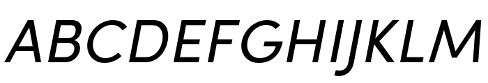 Sofia Pro Condensed Regular Italic Font UPPERCASE