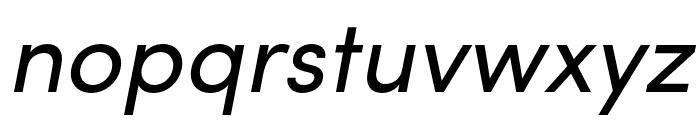 Sofia Pro Condensed Regular Italic Font LOWERCASE