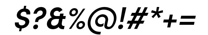 Sofia Pro Condensed Semi Bold Italic Font OTHER CHARS