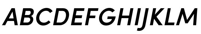 Sofia Pro Condensed Semi Bold Italic Font UPPERCASE
