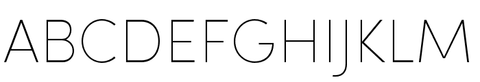Sofia Pro Condensed Ultra Light Font UPPERCASE