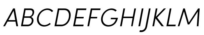 Sofia Pro Soft Light Italic Font UPPERCASE