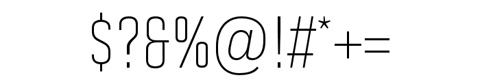 Solano Gothic Pro MVB Light Font OTHER CHARS