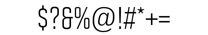 Solano Gothic Pro MVB Regular Font OTHER CHARS