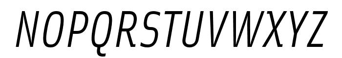 Solex OT Italic Font UPPERCASE