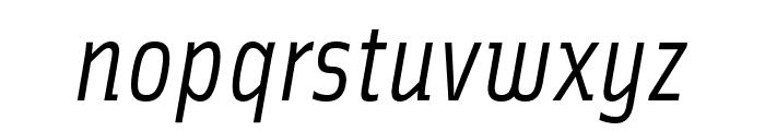 Solex OT Italic Font LOWERCASE