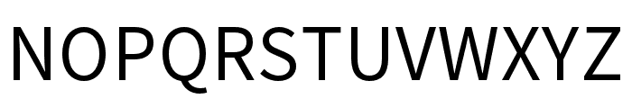 Source Han Sans HC Regular Font UPPERCASE