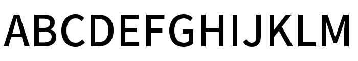 Source Han Sans KR Medium Font UPPERCASE