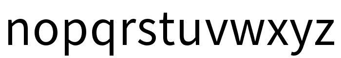 Source Han Sans SC Regular Font LOWERCASE