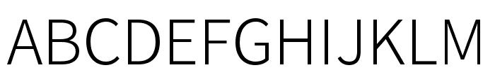 Source Han Sans TC Light Font UPPERCASE