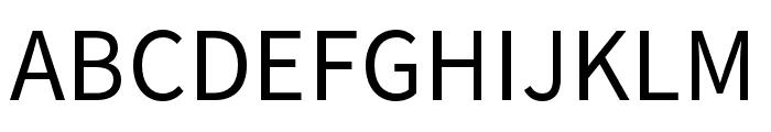 Source Han Sans TC Regular Font UPPERCASE