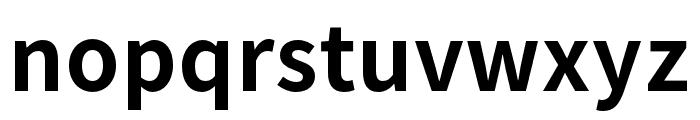 Source Han Sans TW Bold Font LOWERCASE
