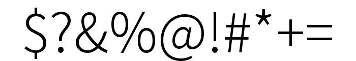 Source Han Sans TW Light Font OTHER CHARS