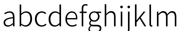 Source Han Sans TW Light Font LOWERCASE
