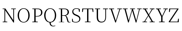 Source Han Serif K ExtraLight Font UPPERCASE