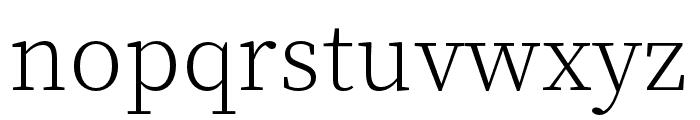 Source Han Serif K ExtraLight Font LOWERCASE