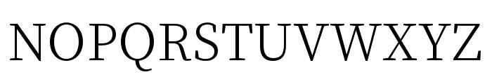Source Han Serif K Light Font UPPERCASE