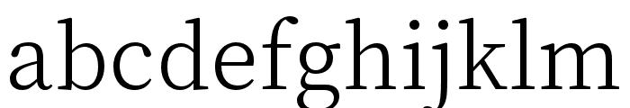 Source Han Serif K Light Font LOWERCASE