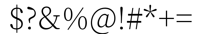 Source Han Serif SC ExtraLight Font OTHER CHARS