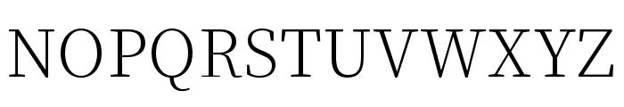 Source Han Serif SC ExtraLight Font UPPERCASE