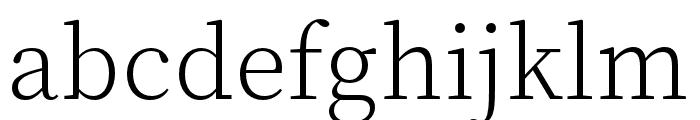 Source Han Serif SC ExtraLight Font LOWERCASE