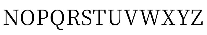 Source Han Serif SC Regular Font UPPERCASE