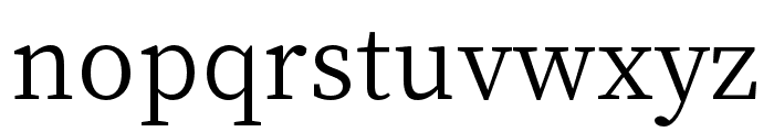 Source Han Serif SC Regular Font LOWERCASE
