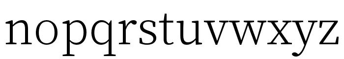 Source Han Serif TC Light Font LOWERCASE