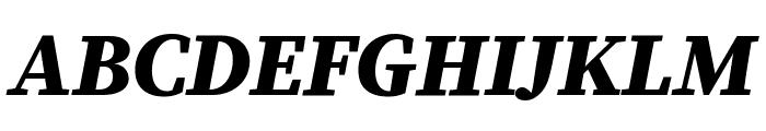Source Serif Pro Black Italic Font UPPERCASE