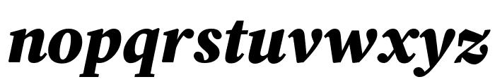 Source Serif Pro Black Italic Font LOWERCASE