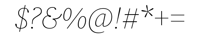 Source Serif Pro ExtraLight Italic Font OTHER CHARS