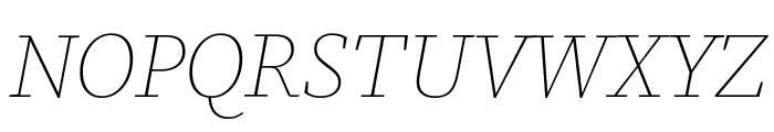 Source Serif Pro ExtraLight Italic Font UPPERCASE
