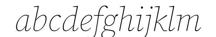 Source Serif Pro ExtraLight Italic Font LOWERCASE