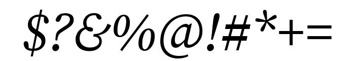 Source Serif Pro Italic Font OTHER CHARS
