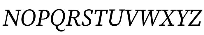 Source Serif Pro Italic Font UPPERCASE
