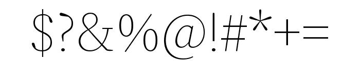 Source Serif Pro Light Italic Font OTHER CHARS